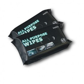 Bagged car wipes